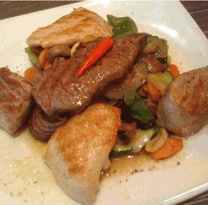 Low Carb Gericht - Schwein und Huhn